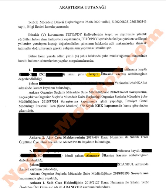 Secret espionage document Turkish Foreign Ministry1