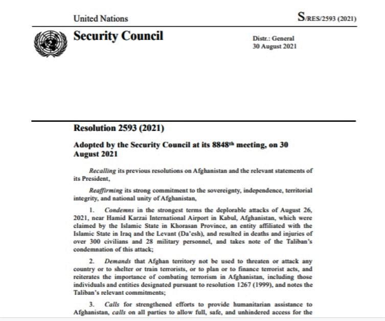 UN afhganistan